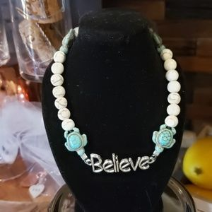 Grouped together Anklet, bracelet& earrings